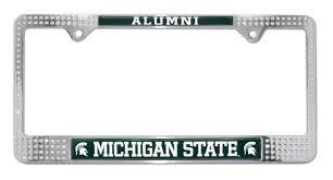 msu alumni license plate frame michigan state alumni license plate frame elektroplate