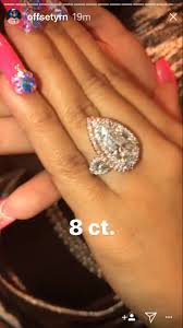 cardi b engaged get a close up look at 8 carat engagement ring