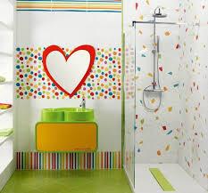 Bathroom  Funny Fish Themed Bathroom Decor Sets For Kids With Mat - Kids bathroom designs