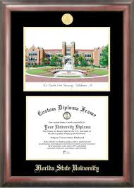 fsu diploma frame florida state seminoles graduation diploma frame and