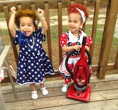Twins Halloween Costumes Infant Love Lucy Ethel Costume Twin Girls