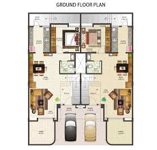 houses plan house plan unique triplex plans india pertaining to row houses