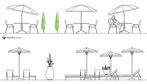 tende da sole dwg ombrelloni 2d disegni dwg