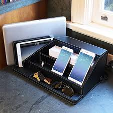 all in one desk organizer amazon com g u s all in one charging station valet and desktop