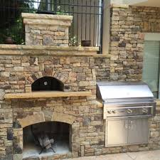 Pizza Oven Outdoor Fireplace by Wood Fired Pizza Ovens Natural Stone Outdoor Kitchens Stone