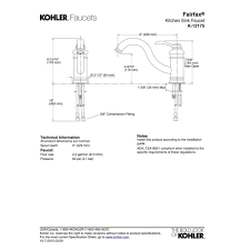 kohler fairfax kitchen faucet kohler faucet k 12175 cp fairfax polished chrome one handle