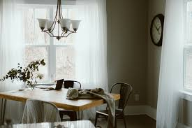 Dining Room Window Free Images Home Cottage Indoor Curtain Property Living