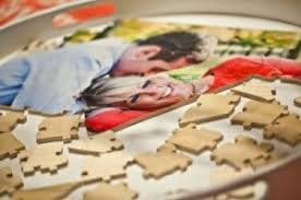unique wedding guestbook unique wedding guestbook custom wooden jigsaw puzzle