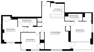 floor plan for 3 bedroom 2 bath house view lakehouse apartment floor plans studios 1 2 bedrooms