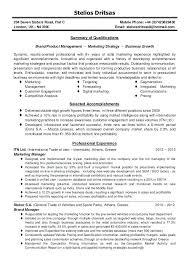 marketing resume summary of qualifications exle for resume resume marketing resume summary bad executive marketing resume