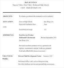 sample resume for food service worker full image for sample resume