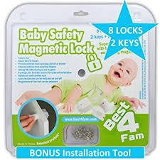 adhesive baby cabinet locks amazon com magnetic cabinet locks baby safety child proof 8