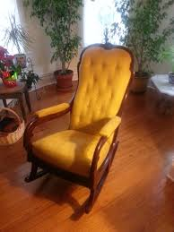 Antique Pressed Back Rocking Chair John Mark Power Antiques Conservator Late Classical Mahogany