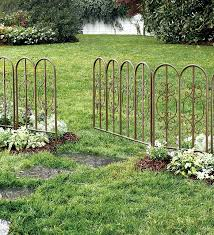 Ideas For Fencing In A Garden Furniture Metal Border Fence Garden Breathtaking Flower Bed