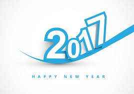 2017 happy new year greeting card free vector