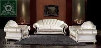 Furniture Set For Living Room by Fresh Decoration Leather Sofa Set For Living Room Chic Leather