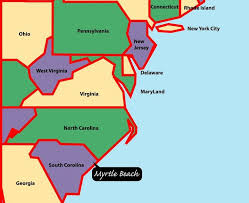 map of east coast states map usa east coast major tourist attractions maps