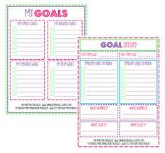 goal journal template 28 images made weekly goals checklist