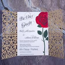 Beauty And The Beast Wedding Invitations Beauty And The Beast Inspired Invitation