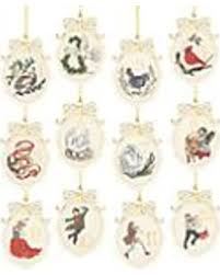 big deal on twelve days of 12 ornament set by lenox