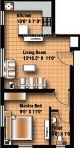 546 sq ft 1 bhk floor plan image anu krish flats available for