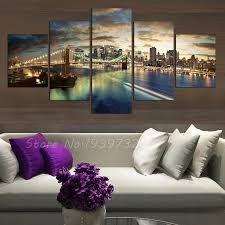 direct selling home decor panel new york city landscape canvas home decor wall art painting