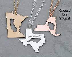 State Shaped Gifts State Necklace
