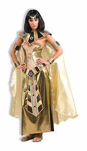 Egypt Halloween Costumes Amazon Woman U0027s Egyptian Goddess Costume Gold Size Clothing