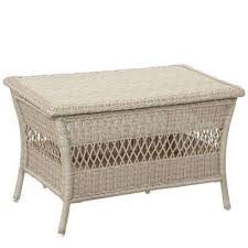 white wicker side table outdoor coffee tables patio tables the home depot intended for white