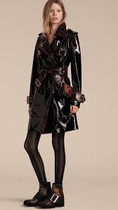 trench coats for women burberry leather trench coat patent