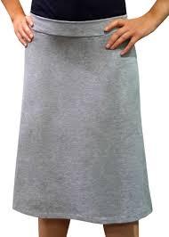 knee length skirt grey a line cotton spandex knee length skirt modli