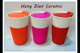 ceramic lids tumbler porcelain coffee mugs plastic cup with lid