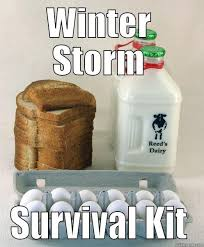 Winter Storm Meme - storm survival kit quickmeme