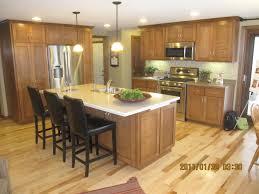 Oak Kitchen Island With Seating Kitchen Modern Kitchen Brown Wall Mounted Range Hood Brown