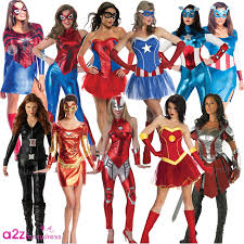 Marvel Super Heroes Clothing Ladies Avengers Marvel Superhero Women Heroine Fancy Dress