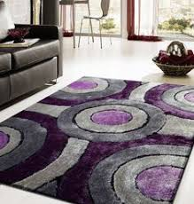 Purple Shag Area Rugs Modern Living Shag Area Rug Style 110 Gray Purple Tufted