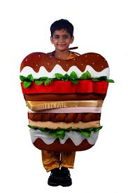 burger junk food fancy dress costume for kids