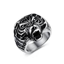 cool mens rings new rock men rings cool tiger design personalized