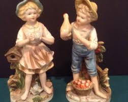 home interior figurines boy statue 1970 etsy