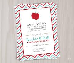 Retirement Party Invitation Card Teacher Appreciation Invitation Printable Teacher Thank You