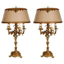 Bird And Branch Table Lamp by Ornate 19th C French Rococo Figural Cherub And Bird Bronze
