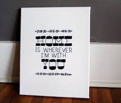 Home Is Quotes by Home Is Wherever I U0027m With You Embroidered Art Canvas Art