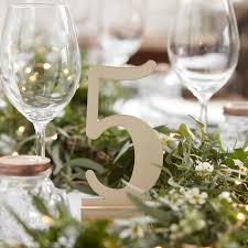 table numbers wedding free standing wooden wedding table number by