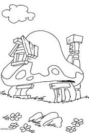 tiny creature sleeping mushroom pixie coloring