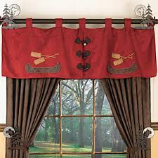 Cabin Style Curtains Canoe Valance How About This For The Window Treatments