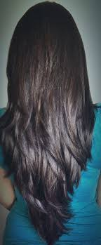 long shag hairstyle pictures with v back cut long layered haircut for thick hair cut in long distinct layers
