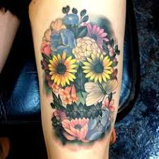 skull made of flowers tattoo best home decorating ideas