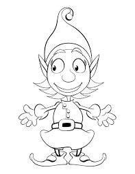 free printable coloring pages of elves free printable elf coloring pages freedm me