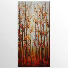 modern kitchen art abstract painting canvas art autumntree painting wall painting