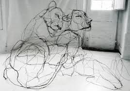drawing with wire scribbled sculptures make sketches 3d urbanist